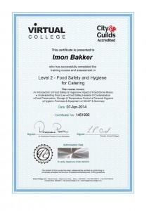 Imon Food Hygiene Certificate